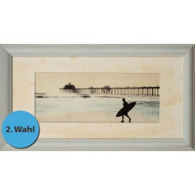 Surfer at Huntington Beach - Exklusive Einrahmung 78 x 43 cm