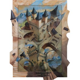 Castle of Illusion - Exklusive Einrahmung 80 x 105 cm
