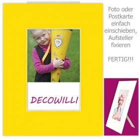 Einschub-Passepartout COLOR - Yellow - DECOWILLI 18x24 / Bild 10x15