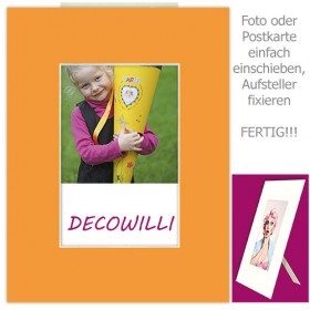 Einschub-Passepartout COLOR - Orange - DECOWILLI 18x24 / Bild 10x15