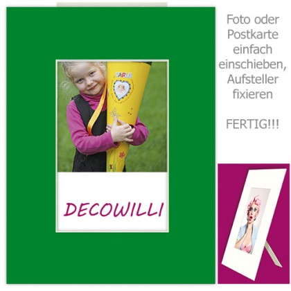 Einschub-Passepartout COLOR - Green - DECOWILLI 18x24 / Bild 10x15